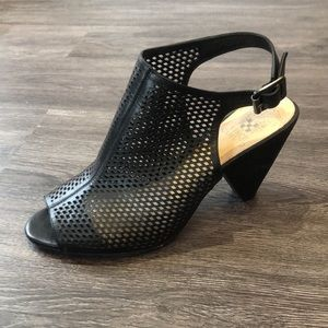 Vince Camuto Open Toe Laser Cut Booties